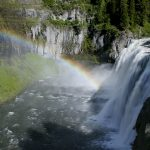 Upper Mesa Falls with rainbow