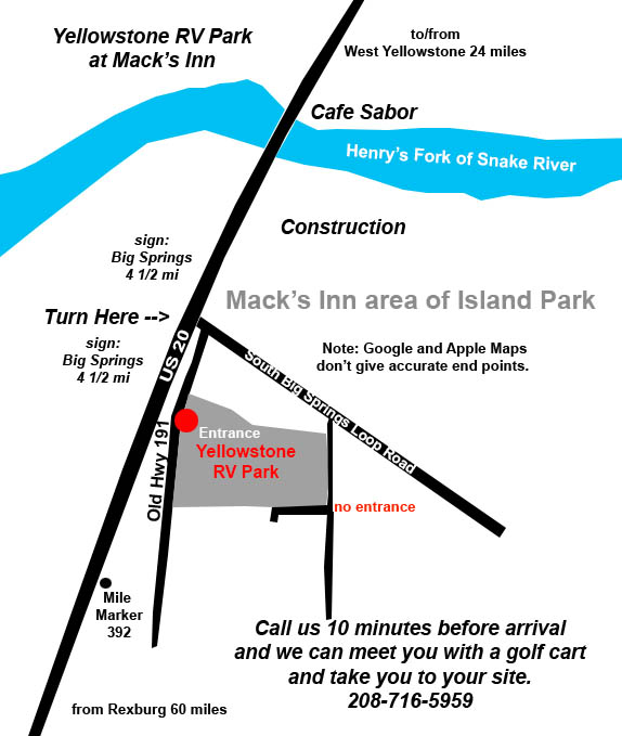 Map of Our Park, detailed instructions